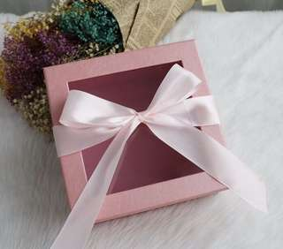 High-end square window ribbon transparent flower gift box gift box square flower packaging box