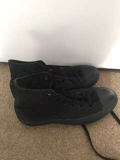 High top black converse