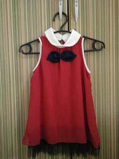 Playground Long Top Red Dress