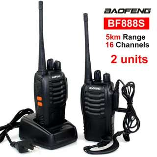 RADIO HT TALKIE WALKIE 2UNIT SEPASANG BAOFENG BF888s+HEADSET