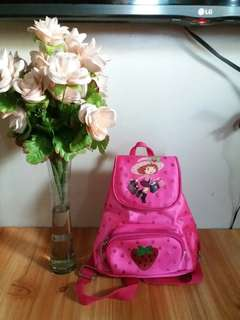 Strawberry shortcake Backpack for small kids