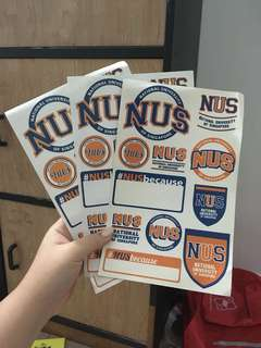 NUS Laptop Stickers
