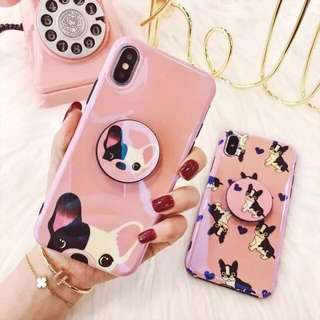 cute dog iphone 6/6p/7/7p/8/8p/X phone case