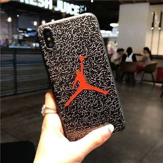 Air jordan iphone 6 6s 7 8 plus X emboss rubber case