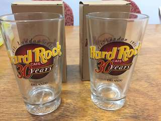 Hard Rock Cafe collectors glass