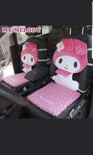 In stock sanrio my melody car seat cushion a set of 2 size is 42 × 92 cm