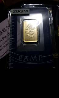 Limited Edition Rose 20g Gold Bar