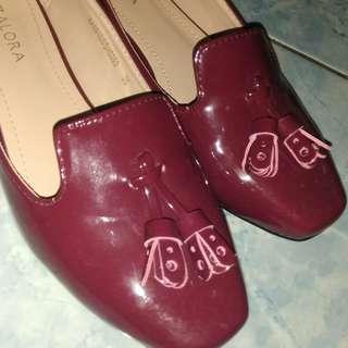 Zalora loafer maroon
