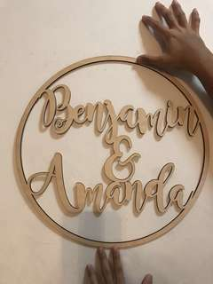 Wood-cut Personalised Name Hoop || Weddings, Birthdays & Other Special Events