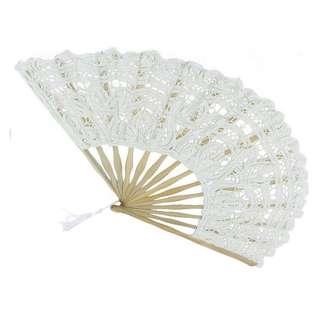 Wedding White Lace Hand Fan