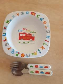 Mothercare bowl and cutlery set