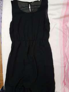 Bluenotes Black Chiffon Maxi Dress (S)