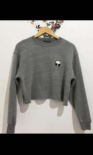 Brandy Melville alien embroidered sweater