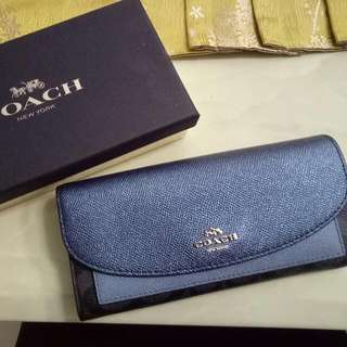 Coach Ladies Wallet Glitter Blue