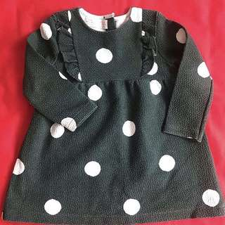 Zara Polka Longsleeve Dress