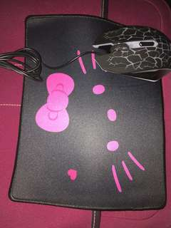 Hello kitty mouse pad,,,