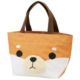 🚚 [河馬大大] 現貨日本進口Skater立體毛鼻子便當袋 萬用手提袋 小柴犬