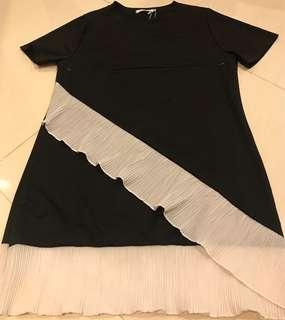 Taiwan-made black & white dress