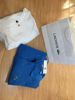 Authentic brand new lacoste polo shirt size S