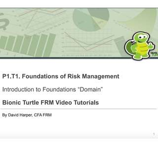 2018 FRM Bionic Level 1 & 2 Turtle Study Materials (Notes, Videos and Practice Exams)