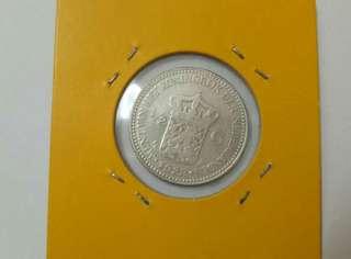 💥💥💥 Wilhelmina Koningin Nederlanden 1922 1/2Gulden Silver Coin