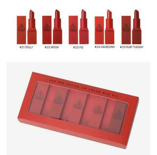 3CE Red Mini Lipstick