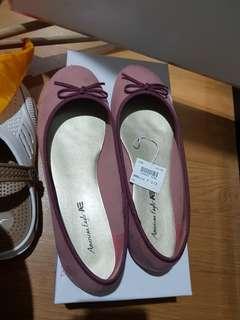 Ballerina flat shoes. Peach. 38 1/2