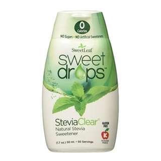SweetLeaf Sweet Drops Liquid Stevia Sweetener, SteviaClear, 1.7 Ounce