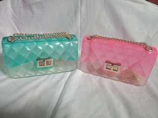 Sling bag jelly pelangi
