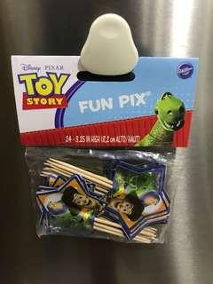 Toy Story cupcake picks deco
