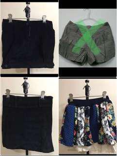 Dress Skirts Shorts