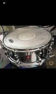PREMIER 1980- 1990s Steel Shell Snare Drum 14X5.5