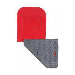 Brand NEW Original Maclaren Reversible Seat Liner Eco Recycled Polyester in Red & Gray!