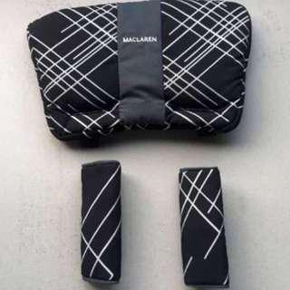 Brand NEW Maclaren Comfort Pack (Headrest & Shoulder Pads) in Argyle Engraved-Black!