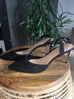 Sparkly Black Heels size 10