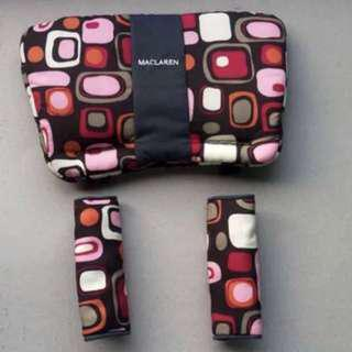 Brand NEW Maclaren Comfort Pack (Headrest & Shoulder Pads) in Lava Lamp Coffee/Pink!