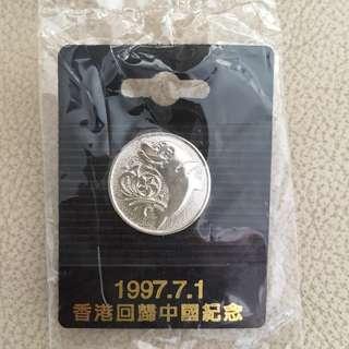 香港回歸中國紀念襟章