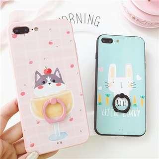 cat rabbit iphone 6/6p/7/7p/8/8p/X phone case