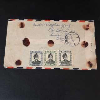 Brunei to Singapore to India (Seamail) 1955
