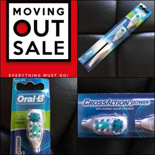 🚚 🚨Moving House Sale 🏡Oral-B Cross Action Power Replacement Heads (Soft)