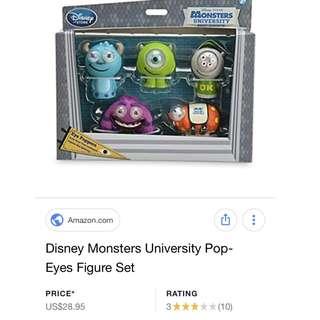 Disney Park MONSTERS UNIVERSITY Eye Poppers Figures Toy Set - NEW