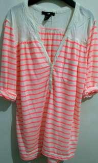 H&M stripe 3/4 sleeves
