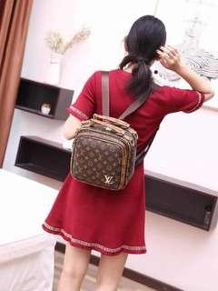 Louis Vuitton Backpack set GredAAA readystock guys aummmm gojes siap gift 😘😘😘