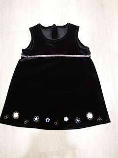 Mothercare Baby Girl Black Velvet Dress