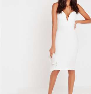 [New] Missguided white bandeau dress