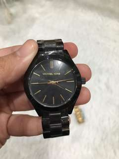 Black MK watch
