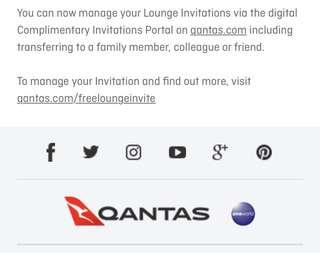 Digital Qantas Lounge Pass