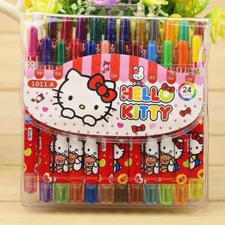 Kids / Toddler Character Rolling Crayon (Rotation) 24 colours