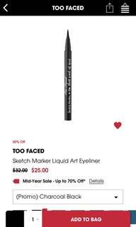 🚚 Too Faced Sketch Marker Art Eyeliner