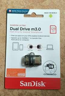 Brand New Sealed Sandisk Ultra Dual Drive 3.0 128GB